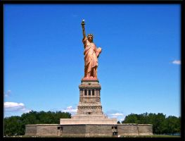 Clean Statue of Liberty by JediMichael