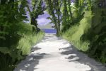 Forest Path Anime Background by wbd