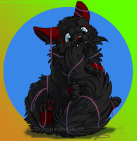 LTDS - Chibi Kyara and ribbons by RikkuWolfsBane