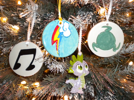 FiM and Homestuck Ornaments by Twilit-Guardian
