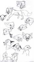 Fox expressions by KoudoawaiaVortex