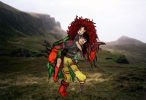 Here and Heaven - Merida and Hiccup by PazGranger