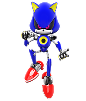 Metal Sonic Boom Render by NIBROCrock