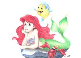 Ariel by one-film-one-drawing