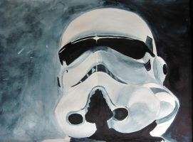 Storm Trooper Watercolor by Anubis84