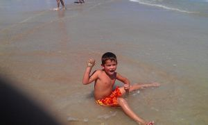 My Lil Cousin Playin In The Ocean by SkittleLove1997