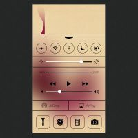 iOS 7 Control Center [PSD] by mozainuddin