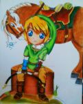 Chibi Link in Zelda: Twilight Princess by SuperHypnoticLove