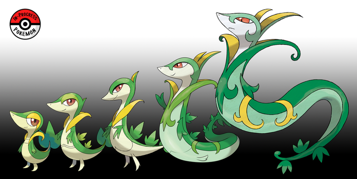 495 - 497 Snivy Line by InProgressPokemon