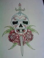 Sword, Skull and Roses by tattoo-parlour