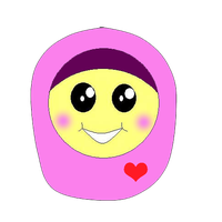 Cute Muslimah doodle by fatinkpoplover