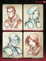 Random Sketchies 069-072 by RobDuenas