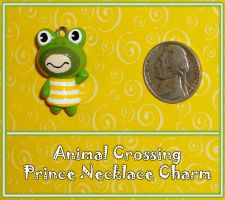 Animal Crossing - Prince Frog Necklace Charm by YellerCrakka