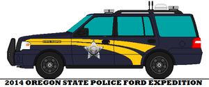 2014 Oregon State Police Ford Expedition by mcspyder1