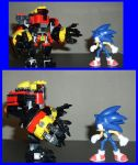 A Sonic standoff by RedBlueIsCool