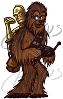 Chewie and C-3PO (Day 3) by Chalecus