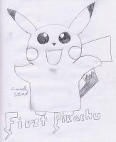 Ema's first pikachu by Paladinoni