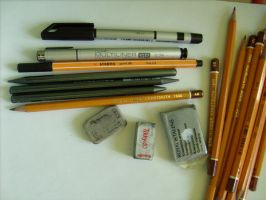 my drawing tools. by dont-wanna-hear