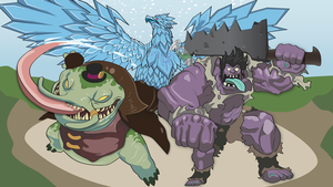 Tahm Kench, Anivia and Dr Mundo! by Draber-Bien