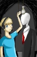 Pewdie and Slender Man by ConMe