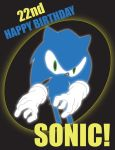 Sonic's 22nd birthday! by meldittrich