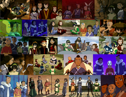 Team Avatar collage by JackieStarSister