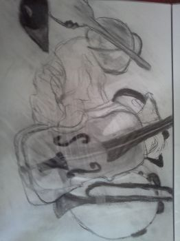 Charcoal musical instruments by finalsight618