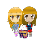 Chibi Rocky and CeCe Keychain by TheOtaku00