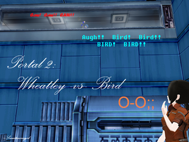 MMD-Portal: Wheatley vs. Bird by Smartanimegirl