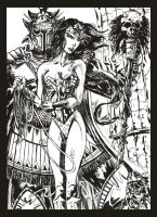 Wonder Woman and Ares by StevenVnDoom