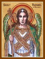 St. Raphael the Archangel icon by Theophilia