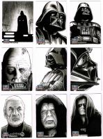 Star Wars Galaxy 7 sketchcards 1 by Frisbeegod