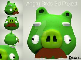 AngryBirds 3d project  the Old pig by daniacdesign
