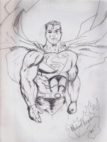 Superman Drawing by MIKEYV13