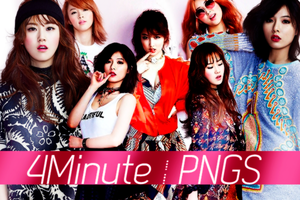 4Minute png by MilenaHo