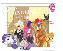 (disney) The Lone Ranger (MLP humanized cover) by Arteses-Canvas
