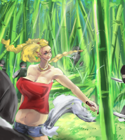 Bamboo battle by kango67