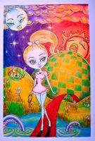 Mary Anne in the sacred land by Frk-Nina