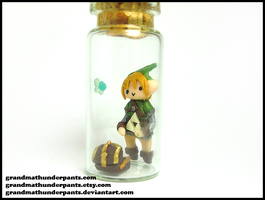 Link's Treasure Bottle Charm by GrandmaThunderpants