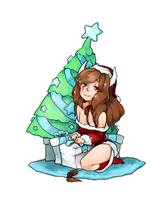 Presents under the tree by Girutea