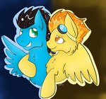 Pony Couple Spitfire  and Energy Dash by CKittyKat98