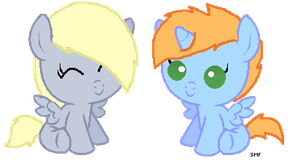 .:GA:. Two itty witty baby ponies by ponyDerpy