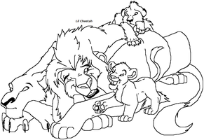 Wake up dad lineart by Lil-Cheetah