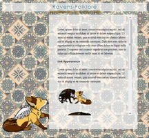 Gift: Ravens-Folklore Journal Skin by ChinZaPep