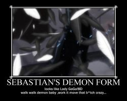 Sebastian's demon form... by G0thicPhantom