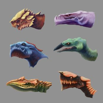 Dragons Heads by MartinMalek