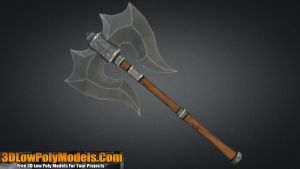 Axe #2 3D Low Poly | 3DLowPolyModels.Com by 3dlowpolymodels