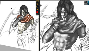 Razzie And Kain Wip Colored by iLiekNewts