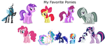 My Favorite Characters from MLP FIM by darren9999