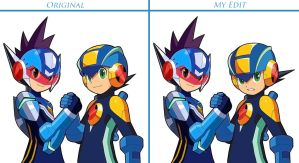 Two Megaman's Edit by Mega-X-stream